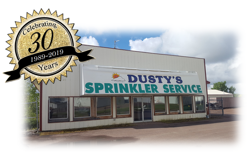 Dusty's Sprinklers storefront