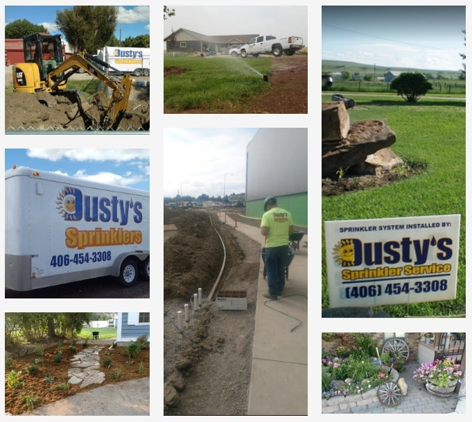 Completed irrigation and landscaping projects